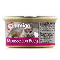 ALIMENTO GATOS MOUSSE BUEY 85 GR  IFA AMIGO