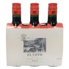 Vino tinto crianza D O Rioja El Coto Pack 3 x 187 ml