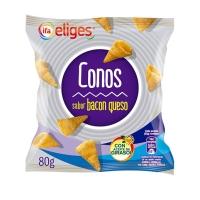 CONOS DE MA  Z SABOR BACON Y QUESO IFA ELIGES 80 GR