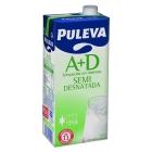 LECHE SEMIDESNATADA PULEVA 1 L