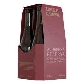 CERVEZA ALHAMBRA RESERVA ROJA PACK 4 33 CL