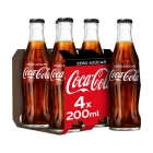 COCA COLA ZERO 200 ML PACK 4