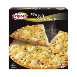 PIZZA 4 QUESOS 400 GR  FRIPOZO