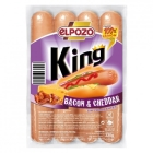 SALCHICHAS KING BACON   CHEDDAR EL POZO 330 GR