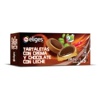 GALLETA TARTALETA RELLENA CHOCOLATE IFA ELIGES 235 8 GR