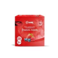 VELAS PERFUMADAS FRUTOS ROJOS 18 UNI  DE 4 HORAS IFA SABE