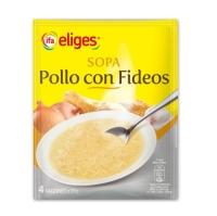 SOPA POLLO CON FIDEOS EN POLVO IFA ELIGES 80 GRAMOS