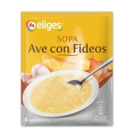 SOPA AVE CON FIDEOS EN POLVO IFA ELIGES 80 GRAMOS