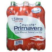 AGUA CON GAS FUENTE PRIMAVERA 1 5 L  CAJA 6 BOTELLAS