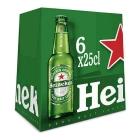 CERVEZA HEINEKEN 25 CL  PACK 6 CRISTAL