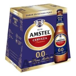 CERVEZA SIN ALCOHOL AMSTEL 25 CL  PACK 6