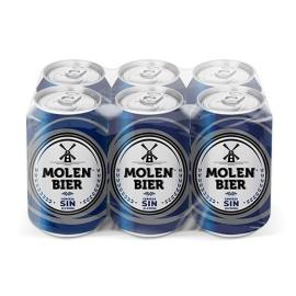 CERVEZA SIN ALCOHOL MOLEN BIER 33 CL X 6 LATAS