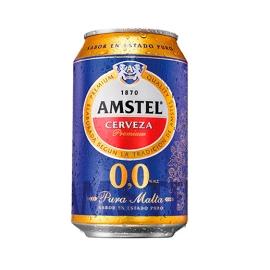 CERVEZA SIN ALCOHOL AMSTEL 33 CL CAJA DE 24 LATAS